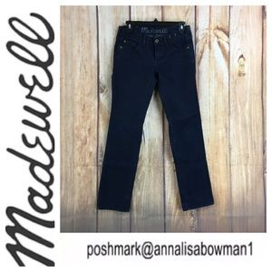Madewell Rail Straight denim Jean in size 27